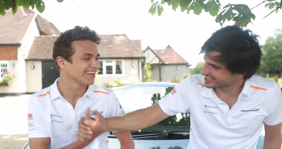 Really happy to announce I'm staying with @McLarenF1 next year! Not so happy about Carlos still being around, but you can't win them all