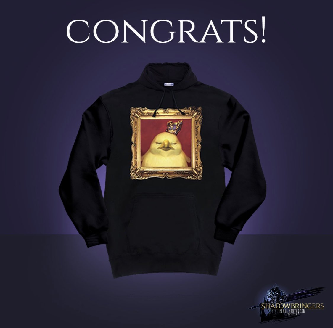 Congrats to the true #WarriorofDarkness, @Summeraltenbur4! Theyve won a custom chocobo hoodie and a copy of FINAL FANTASY XIV: Shadowbringers! #FFXIV #Shadowbringers available now: bit.ly/2XkGKnh Giveaway Rules: bit.ly/2FKKLXE #FFXIV #Shadowbringers #Ad
