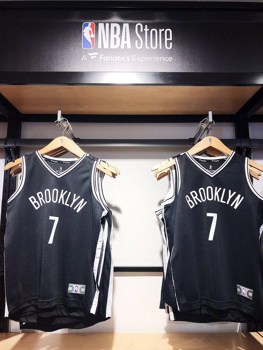 .@KDTrey5 x @BrooklynNets jerseys hit the shelves @NBASTORE NYC!