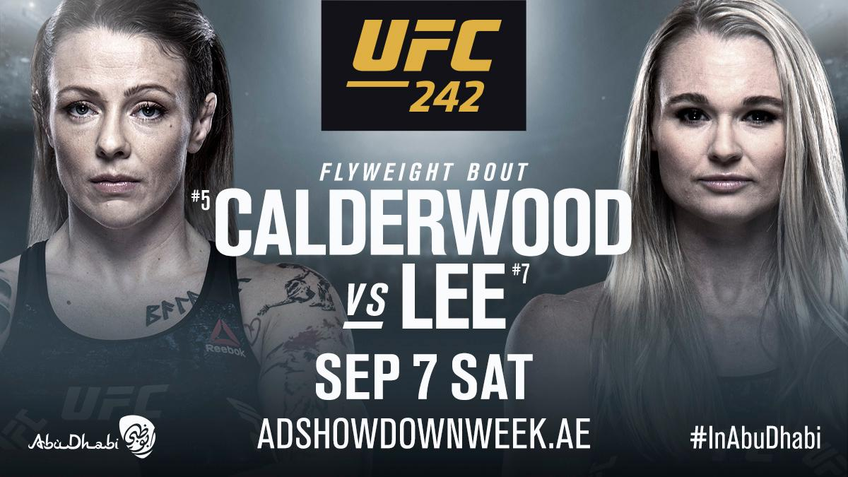 One more for #UFC242!  @DRkneevil vs @AndreaKGBLee are coming to Abu Dhabi! 🏝