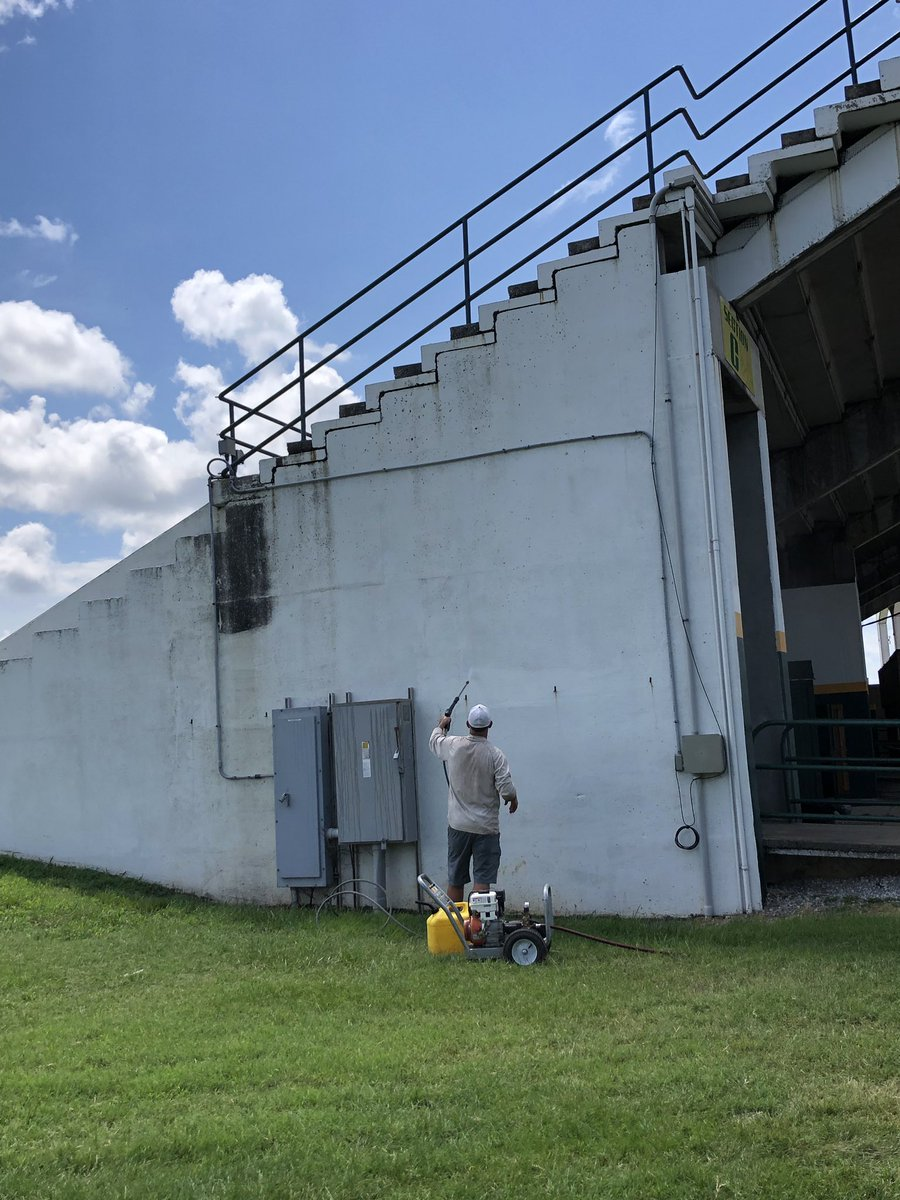 Our @MOSOFOOTBALL coaches are working hard on this hot summer day to get Fred G Hughes stadium game day ready! #TheTimeIsNow<br>http://pic.twitter.com/93yljIbwEI