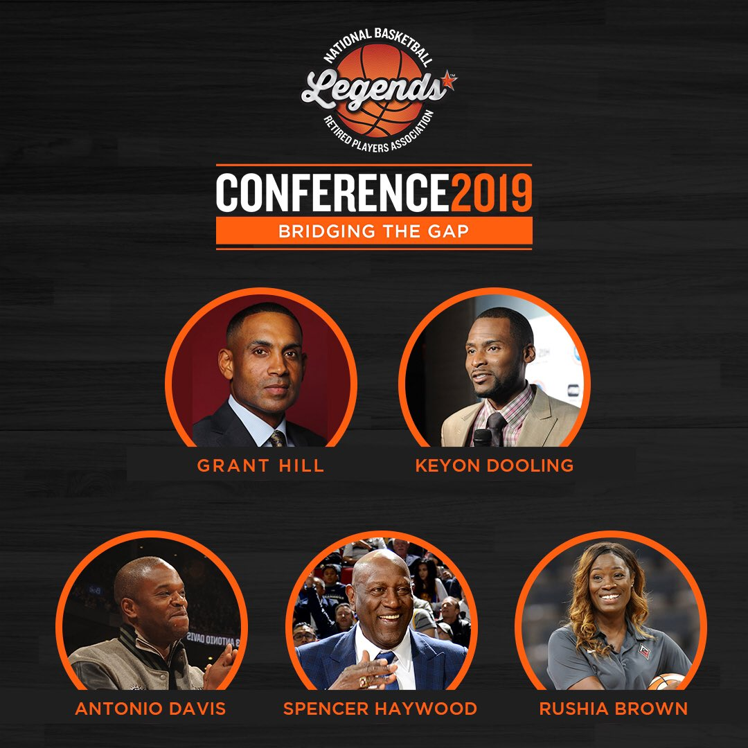 It's that time! The #BridgingTheGap Summit at the 2019 #LegendsConference feat. @realgranthill33, @Espnantoniod, @RushiaB, @Keyon_Dooling and @SpencerHaywood is set to begin!
