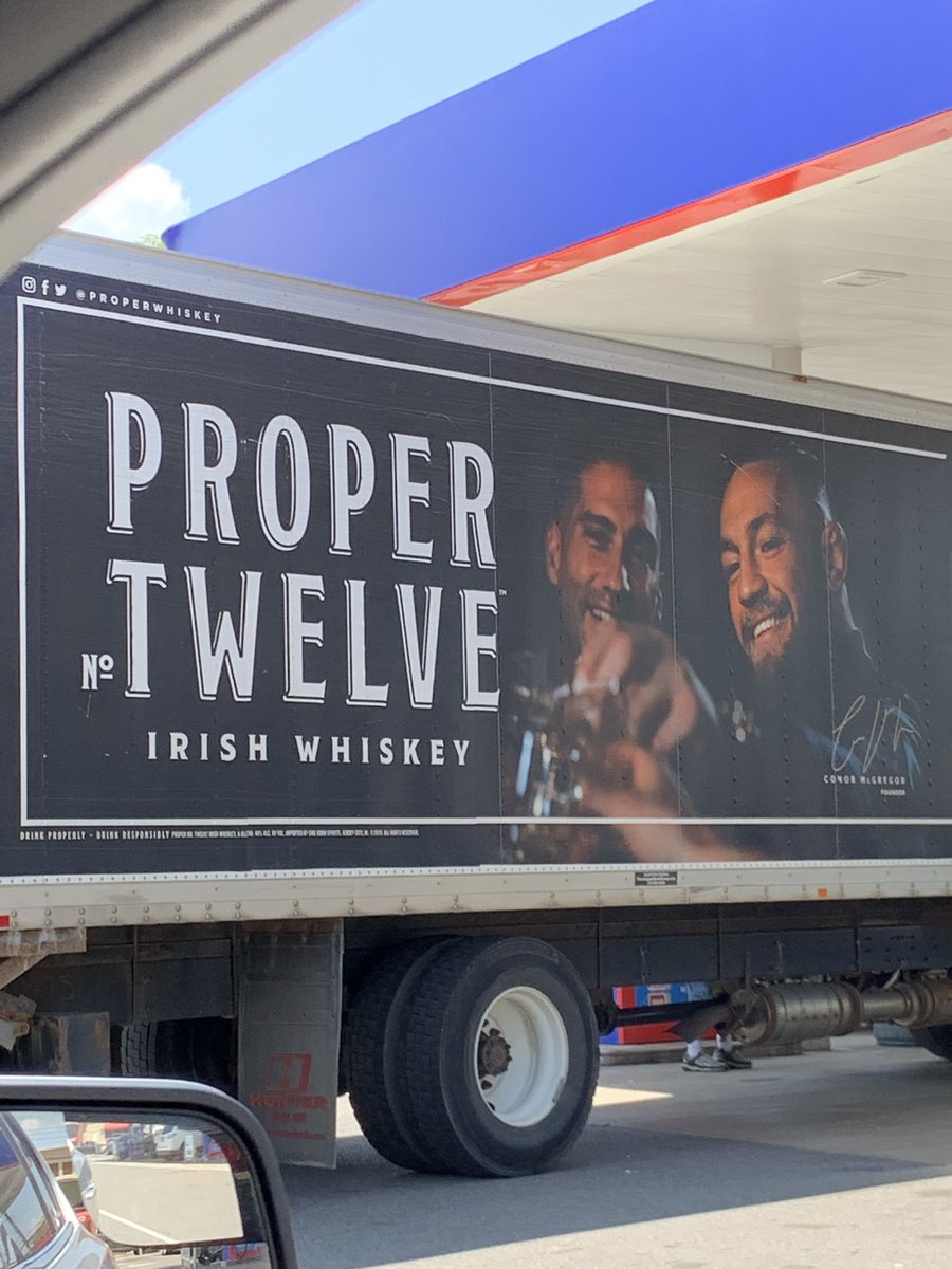 Wasn't even thinking about drinking after work until @TheNotoriousMMA snuck up on me @ProperWhiskey
