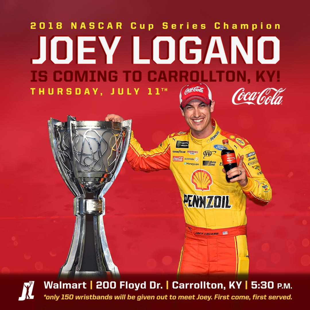 APPEARANCE ALERT - Ill be at the @CocaCola display inside the @Walmart located at 200 Floyd Dr. Carrollton, KY at 5:30PM on Thursday evening. See you there! #CokePartner #TeamJL