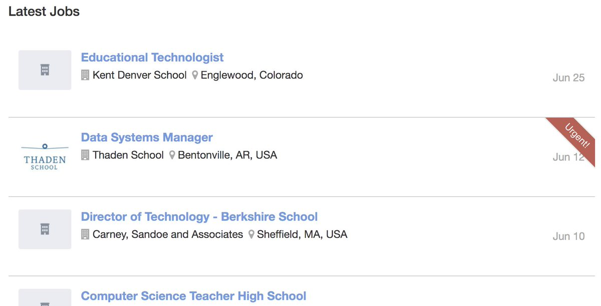 View today's hottest jobs at the ATLIS Career Center: https://buff.ly/2WVKh7X  #directoroftechnology #computerscience #cs #techcoach #indyschools #atlis #ecatd #atlisac #edchat #k12 #nais #isedchat #cto #NAIS #MISBO #indyschoolleadership #professionaldevelopment #pd #TechDirector