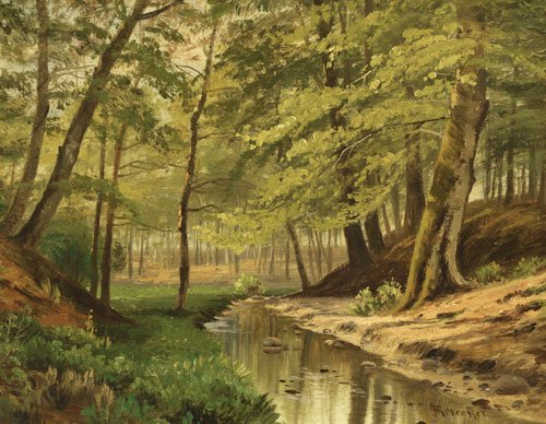 Looking at this painting, you can almost smell the trees and the warm #southern air. Interested in more #American artwork? Check out our website! #AmericanSouth  http://bit.ly/JosephMeeker
