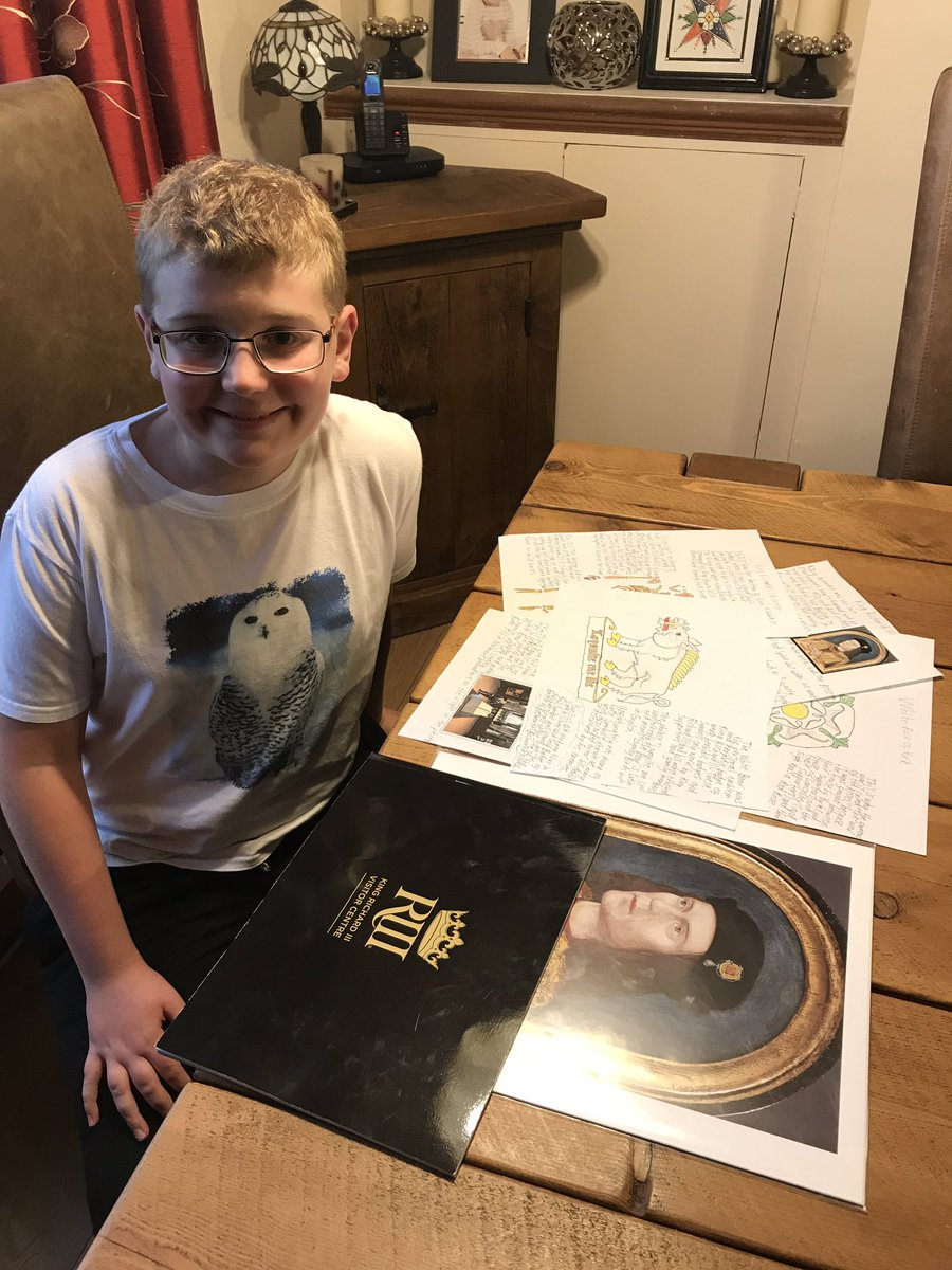 Hi everybody! It's Alex! Tomorrow I do my presentation on and hand in my Summer project about King Richard III.  I'm excited! I want to thank @Turi__King @KRIIICentre @LeicsCathedral @KRIIILeicester @KriiiLearning for all their help xx #AlexandersJourney #DumSpiroSpero #History