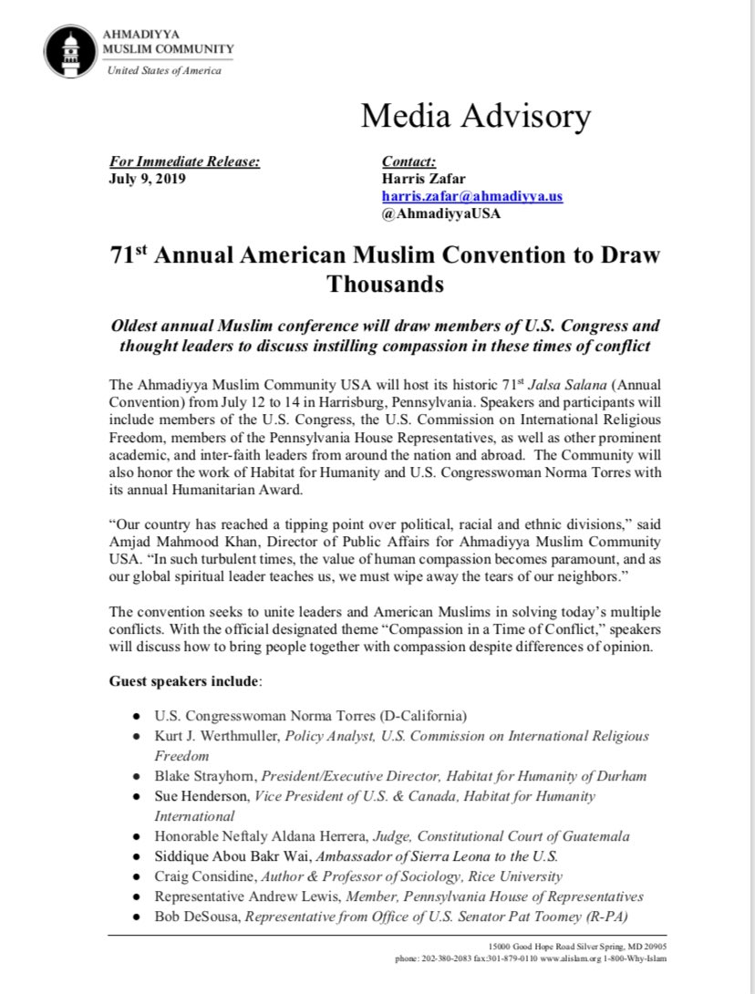Muslims for Peace – Muslims for Peace