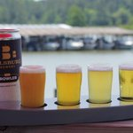 Beautiful day for a flight of Billsburg Beer! #vacraftbeer #wmbgbeer #drinklocal #localbrewery