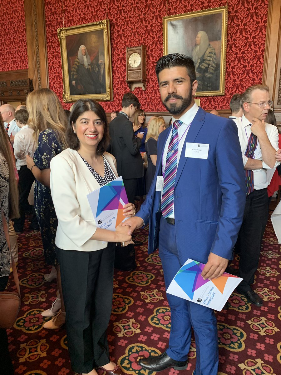 Congratulations to Heston's @aadila1238 - one of @KPMG's star apprentices at @ApprenticeAPPGs reception. Inspiring event and report launch today. We need the best quality apprenticeships for our young people and employers prepared to change how they work.