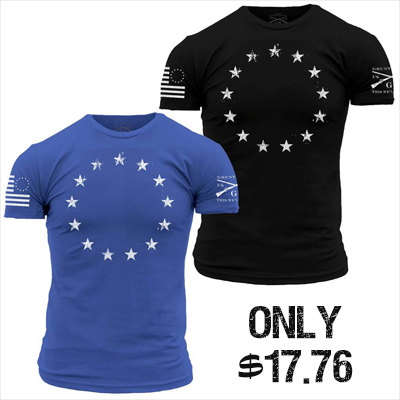 For a LIMITED TIME pick up the Betsy Ross tee from @GruntStyle for ONLY $17.76! Grunt Style is a Veteran Owned company that employs nearly 400 US Veterans & Patriots! Pick up your shirt here > https://buff.ly/2S6sTuV  #TopRatedMMA #VeteransBeforeRefugees #GruntStyle #America #USA