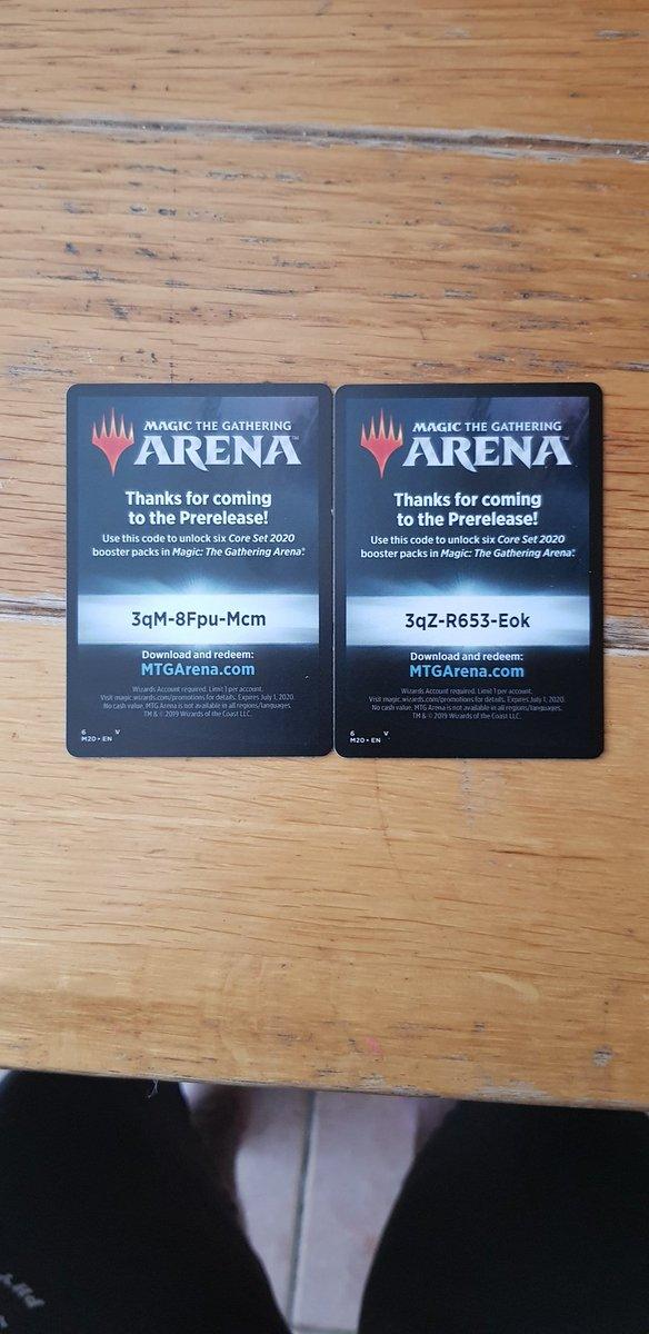 Mtg Arena Booster Codes