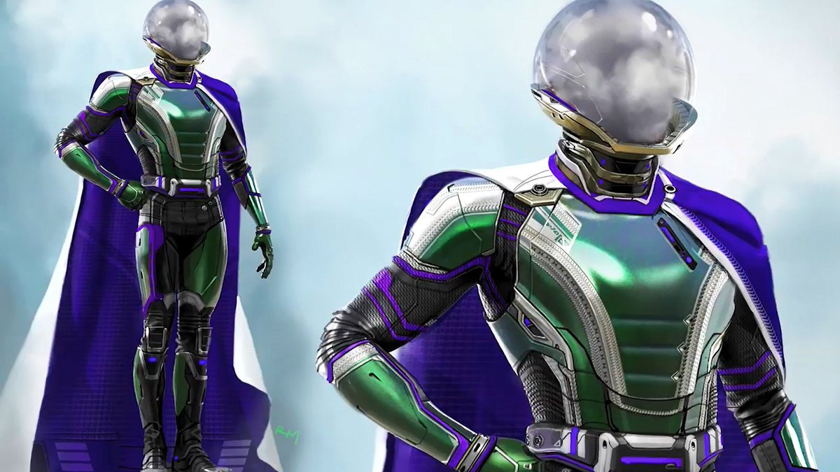 Spider Man Far From Home Concept Art Spotlights Alternate Mysterio Costume Designs Spoilers