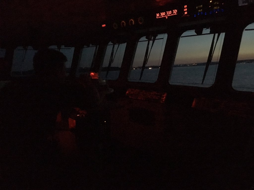 #CaptainsLog goodnight #Twitter friends! As the sun sets and vampires 🧛♀️ get turned to, it is time to start our night navigation training! #Navigation #BoldlyGo #RoyalNavy and #RFA