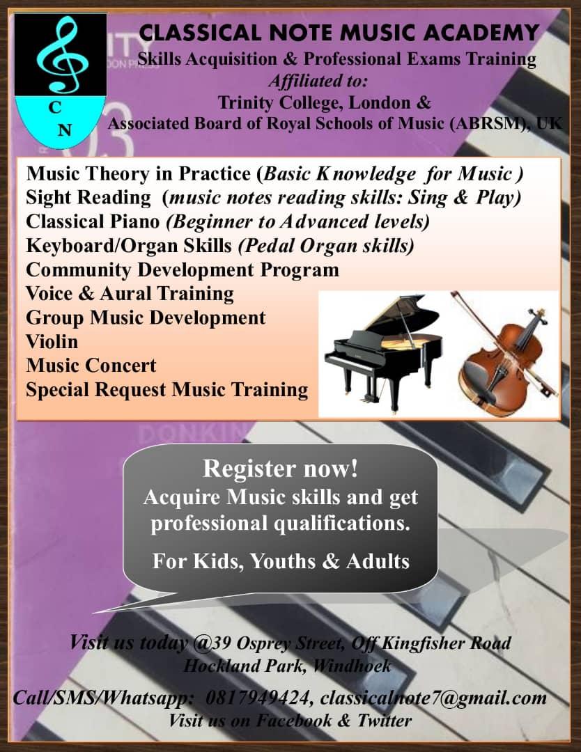 Classical Note Music Training Namibia (@ClassicalNoteNA