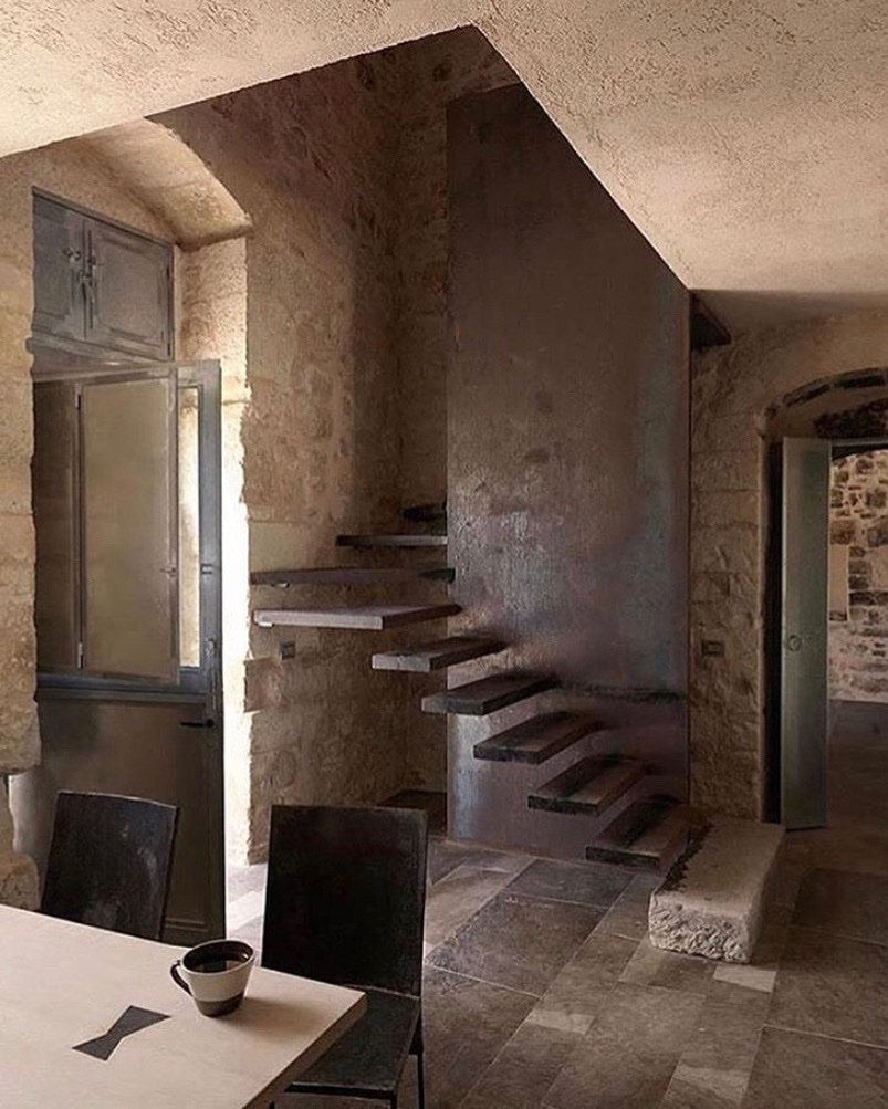 Floating stairs at Masseria Le Edicole in Sicily, Italy #JBDesignInspo