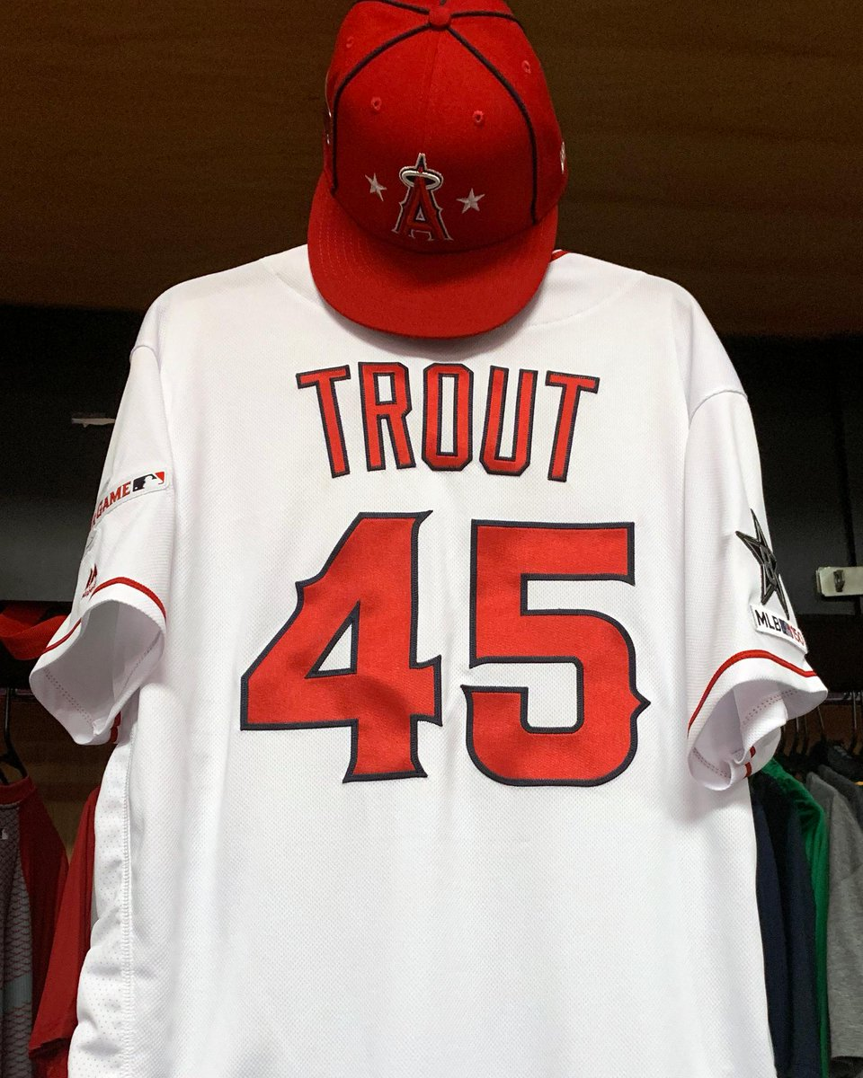 A tribute to Tyler Skaggs at the #AllStarGame.  @MikeTrout and Tommy La Stella will both wear 45 tonight. <br>http://pic.twitter.com/Hq03egHOgX