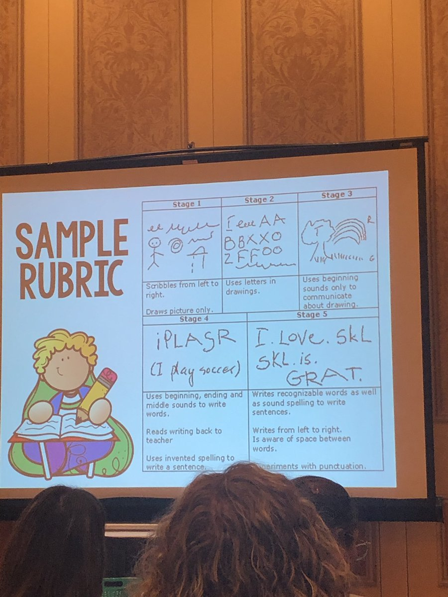 I have to admit, I was a little hesitant to use my pro-d funds on a conference in the states as I have seen how much they expect their #kindergarten students to do. Very pleasantly surprised by @MrsTravisKinder's #developmentallyappropriate approach to writing #sde2019 <br>http://pic.twitter.com/W0bcCnrgoF