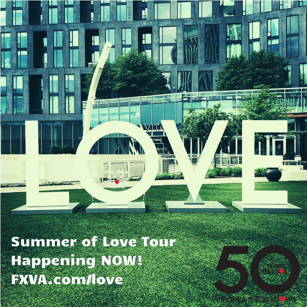 "@Wolf_Trap To celebrate the 50th Anniversary of the ""Virginia is for Lovers"" slogan, the ""LOVE"" letters are making a stop at #WolfTrap from July 12 to July 24. Visit the Park to take your photo with the iconic LOVE sign and share the love using #WolfTrap, #LoveVA, and #ShareWhatYouLove."