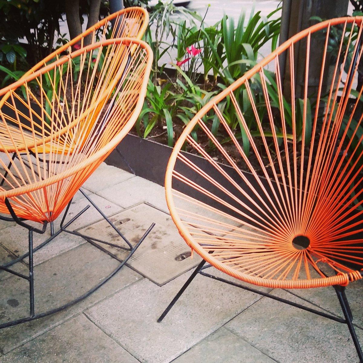 Acapulco chairs #carmenrion #condesadf #cdmx #orange #carmenrion