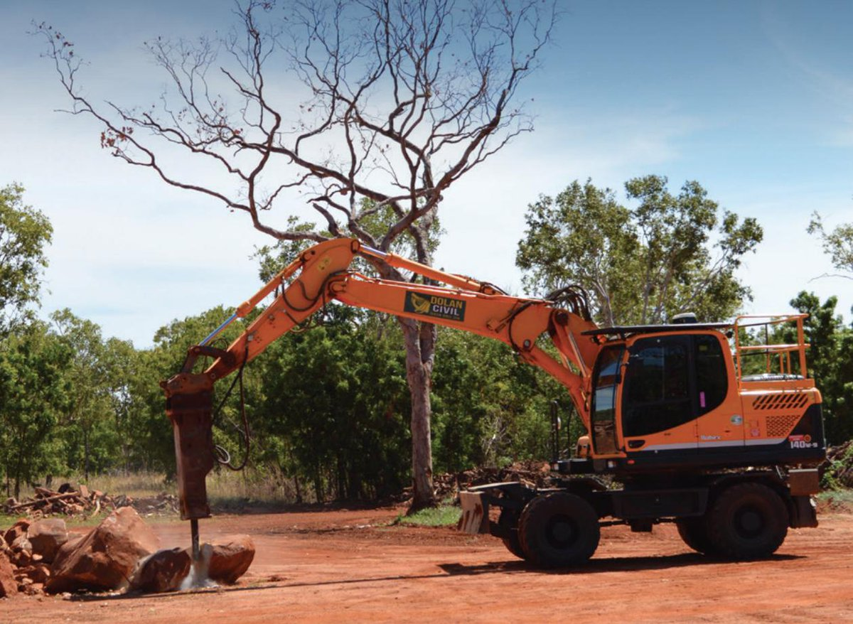 Darwin's Dolan Civil has the largest fleets of wheeled excavators in the Northern Territory, where the often harsh working environments can test both man and machineFind out why they're using #Trimble #Earthworks here! https://t.co/aaHYjOKXo7 https://t.co/WwrB14xTdY