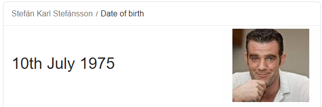 Happy birthday to one of the best men to ever roam the earth, Stefán Karl Stefánsson!