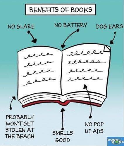 Here are just a few of the benefits of books 📚❤️