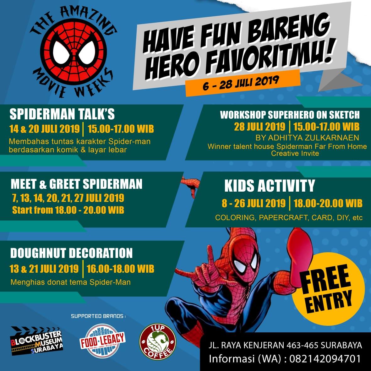 Event Surabaya On Twitter The Amazing Movie Weeks 2019 Have Fun Bareng Hero Favoritmu 6 28 Juli 2019 Jl Raya Kenjeran 463 465 Surabaya Free Entry Informasi 082142094701 Https T Co V9guazikhf