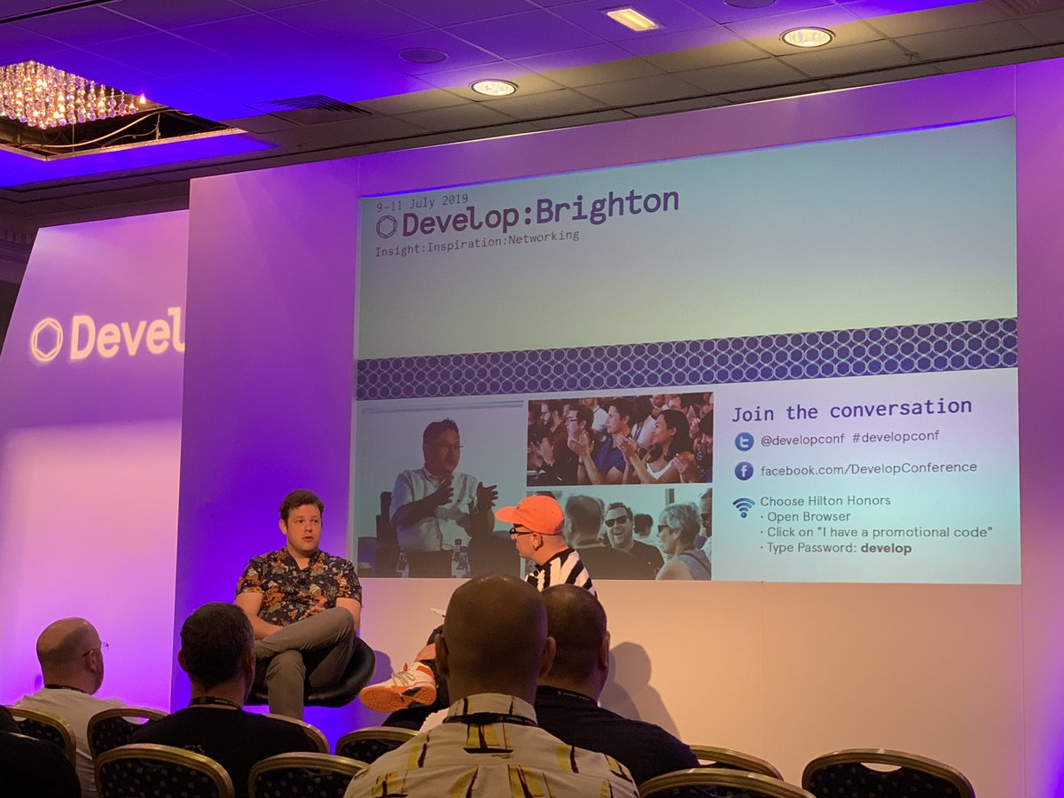 Wonderful to see so many BAFTA Games Members at our Breakfast Networking Session this morning!   Now watching BAFTA Award Winning @mikeBithell speak about plans for his new game! #developconf
