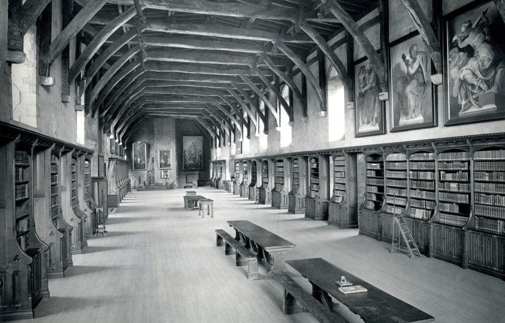 Happy 163rd Birthday to us! The 'New Library' in the Monks' Dormitory @durhamcathedral first opened #OnThisDay in 1856 under the care of New Librarian Edward Greatorex. #LibraryLife #OTD #Durham