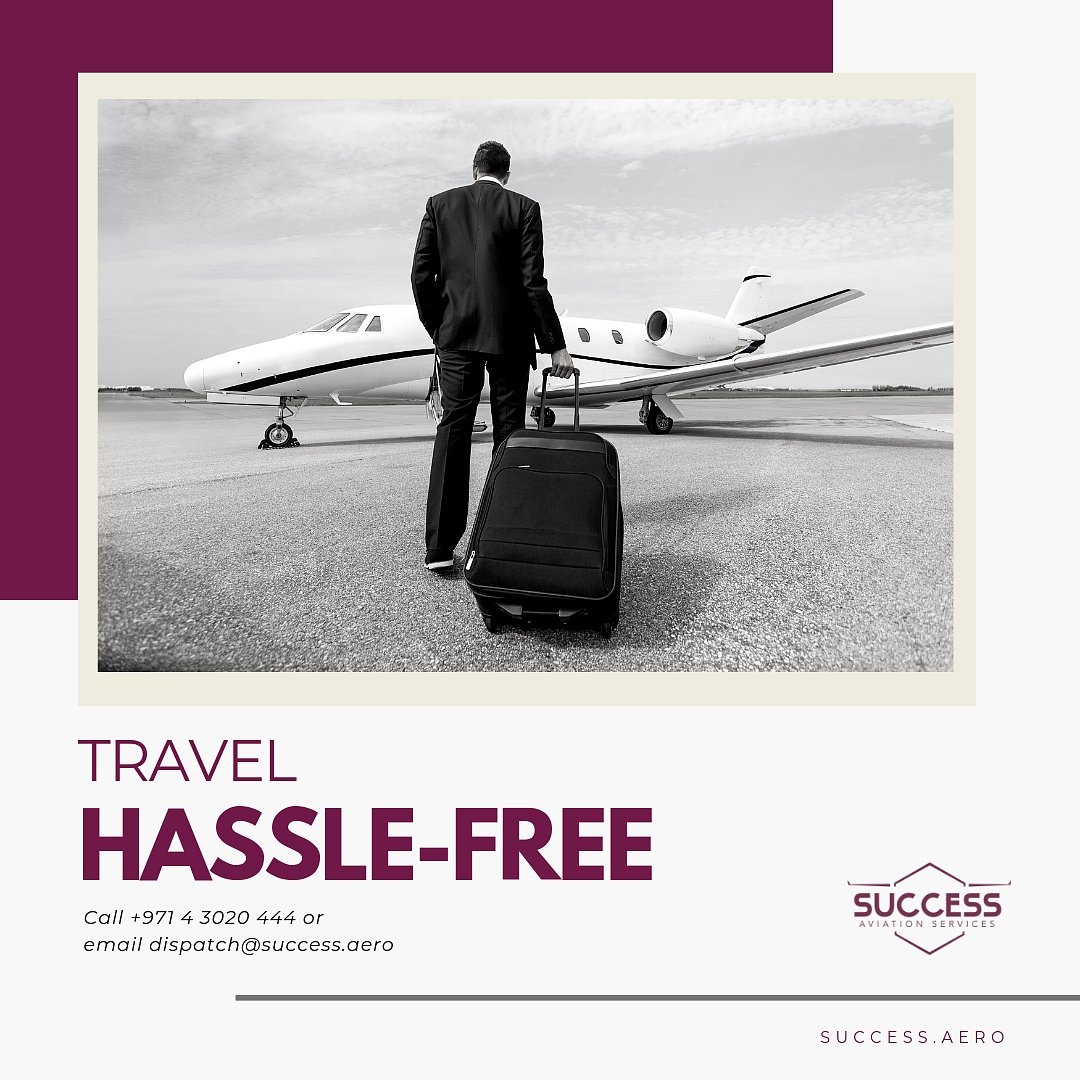 Enjoy a hassle-free trip. Contact our team of trip support experts and let Success Aviation take care of you.   Call us today +971 4 3020 444 or send us an email to dispatch@success.aero so we can help you plan your trip.  #TRIPSUPPORT #FLYSUCCESSAVIATION # #VIPSERVICE