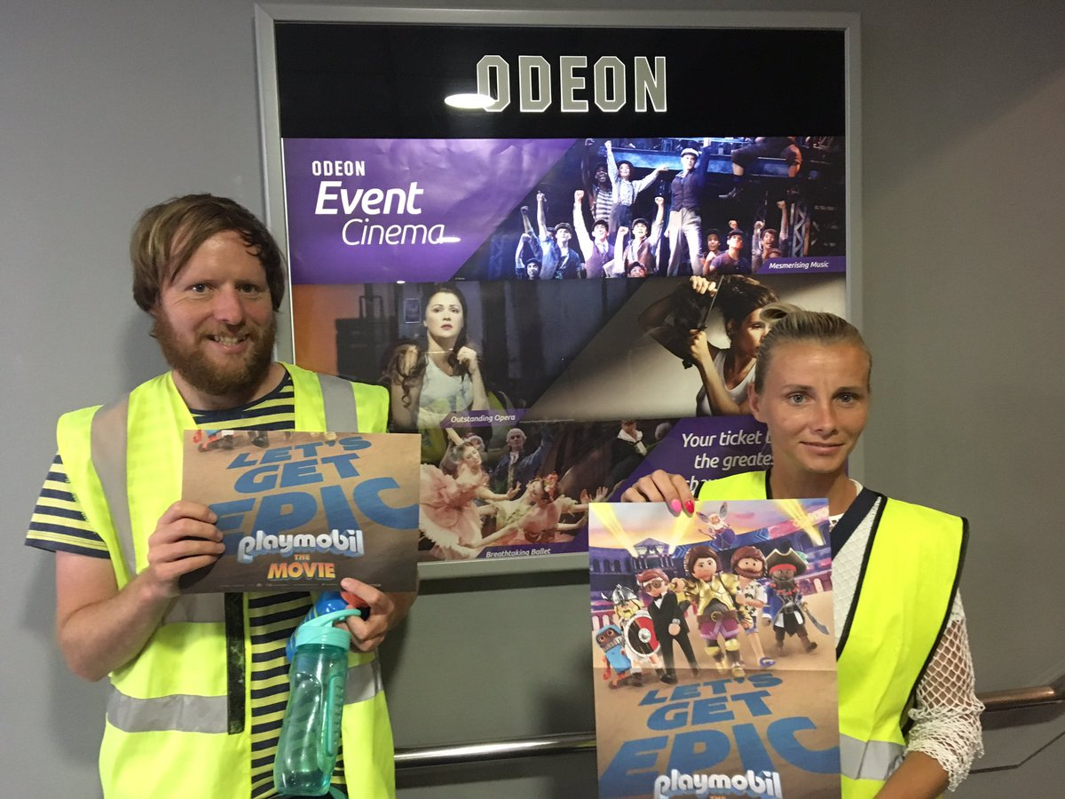 We had a brilliant time @odeon #Bristol for the very special screening of @PlaymobilMovie with #holyfamily #holycross primary and #thedolphinschool. Even the #teachers loved it! Thanks @StudiocanalUK