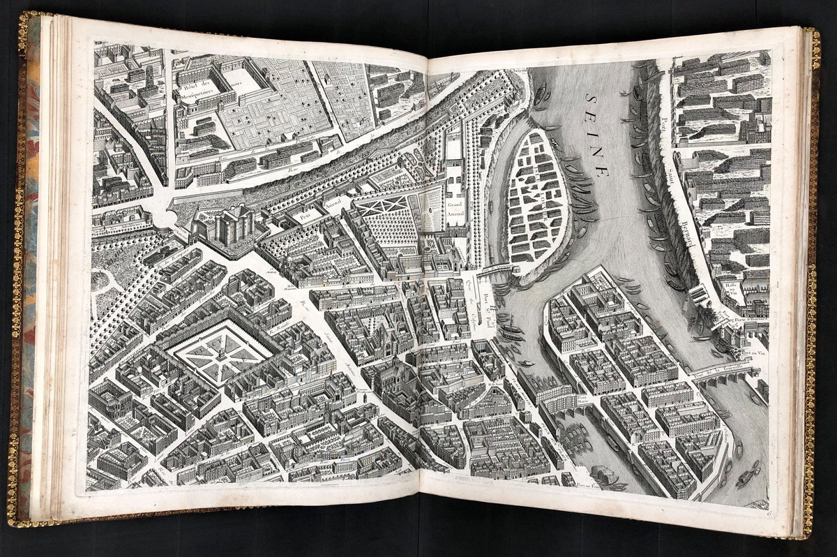To mark #BastilleDay here is one of the great achievements of early urban #cartography. Published in 1739, this Plan of #Paris is extraordinarily accurate because the team who produced it had permission to enter every building in the city. #OTD #OnThisDay #rarebooks