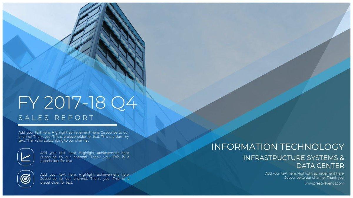 Inspirational Cover Slide Design for Business Presentation
