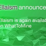 Image for the Tweet beginning: 👏 #Ellaism is again available