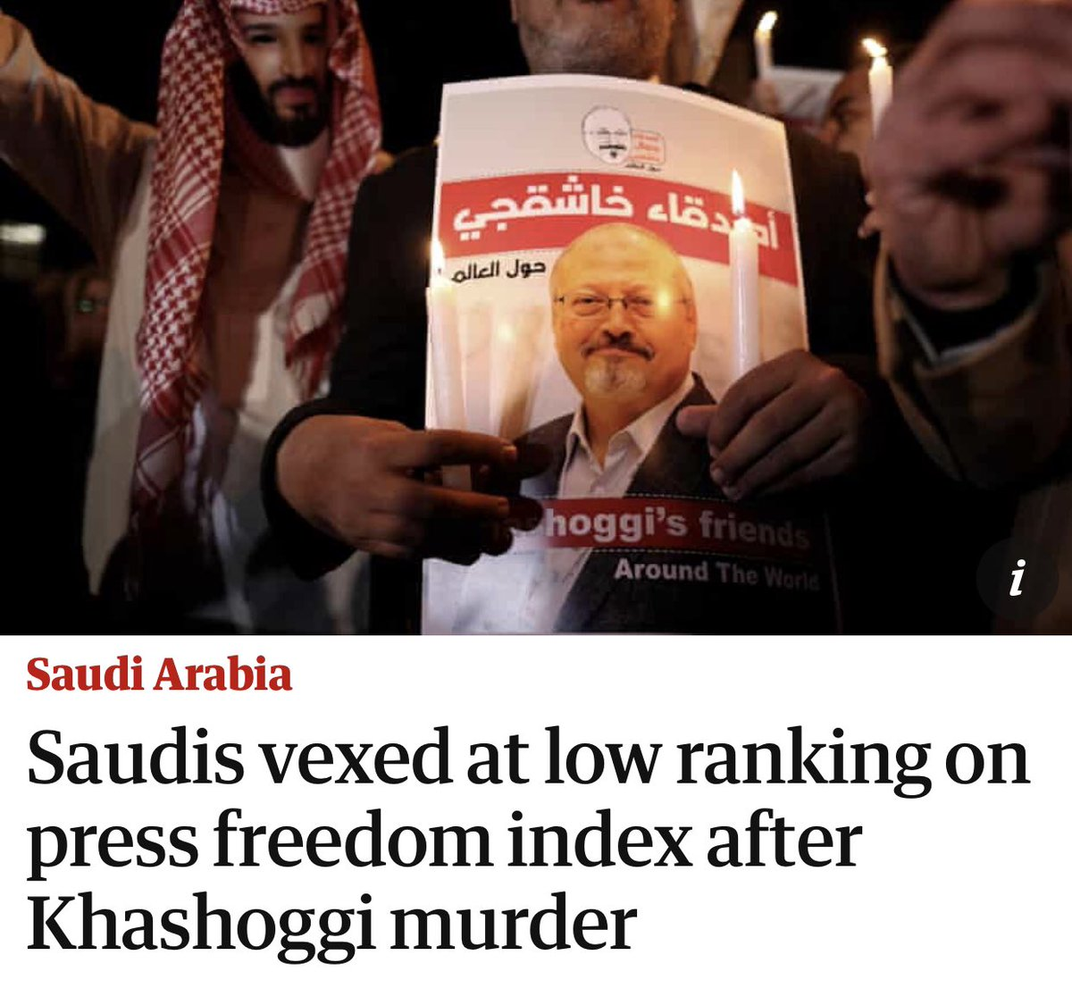 After hacking a journalist to pieces with a bone saw in their own consulate, Saudi officials are wondering why their country scored so low in press freedom rankings... https://www.theguardian.com/world/2019/jul/10/saudi-press-freedom-index-ranking-reporters-without-borders…