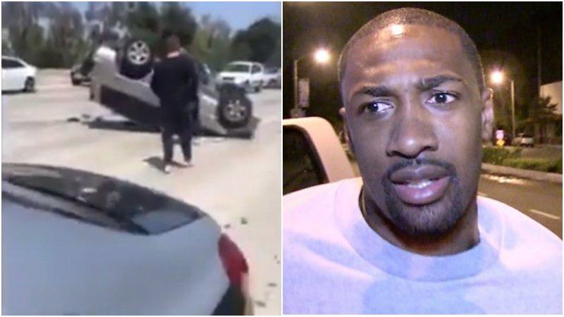 【影片】Arenas出現慘烈車禍,汽車翻一圈+底朝天,他還有心情調侃BIG3聯盟!
