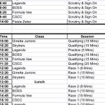 Image for the Tweet beginning: Final final final Timetable for
