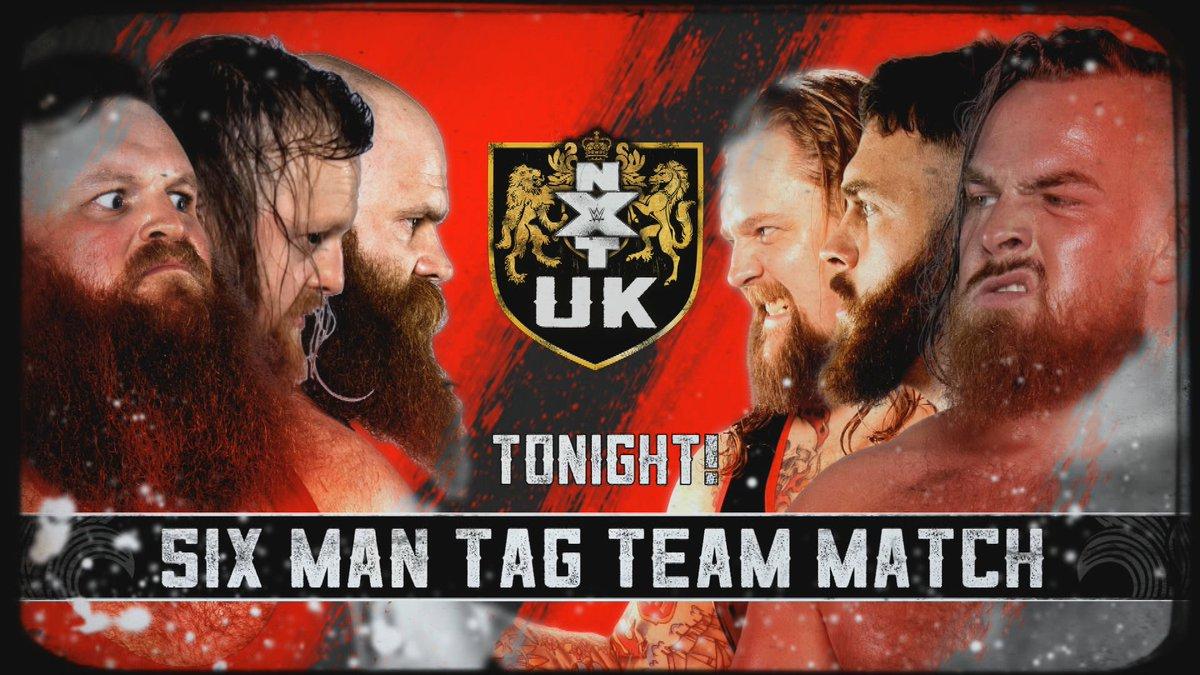 TONIGHT on #NXTUK!✅@UNBESIEGBAR_ZAR v @AshtonSmith_WWE✅@tonistorm_ v @CFlossWrestler✅@trentseven responds to ImperiumThe Hunt: @WILDBOARhitch + @The_Primate_ & @DaveMastiff v Gallus: @Joe_Coffey @m_coffey90 & @WolfgangYoung8PM 🇬🇧 • 3PM 🇺🇸 EST on @WWENetwork #WWE