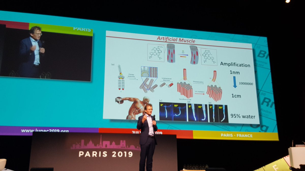 Feeling lucky and amazed to assist  to Prof. Feringa, Sauvage and Stoddart inspiring lecture! #nobelprice #molecularmachines #IUPAC2019Paris