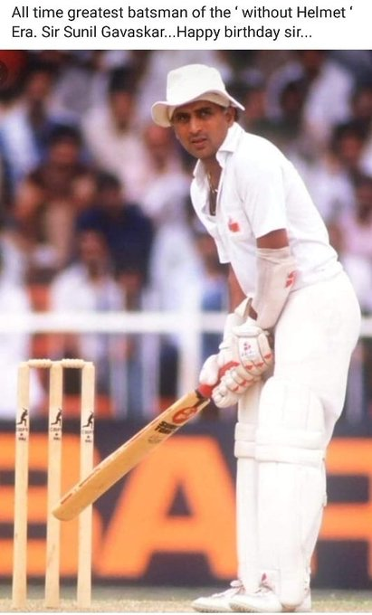 Happy birthday Sir Sunil Gavaskar.