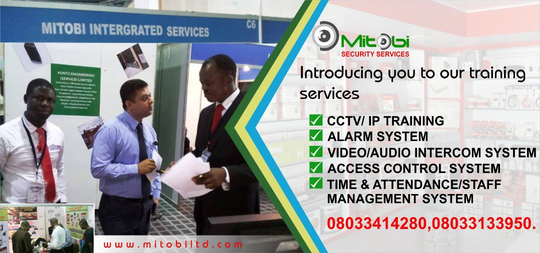 Mitobi Integrated Services We Train, We Install, We Maintain, We Sell... We deal with all security products and profer technical solutions. Contact: 08033133950 #Security #sales #services #training #technical #maintenance #intsallation #mitobisecurty #safety