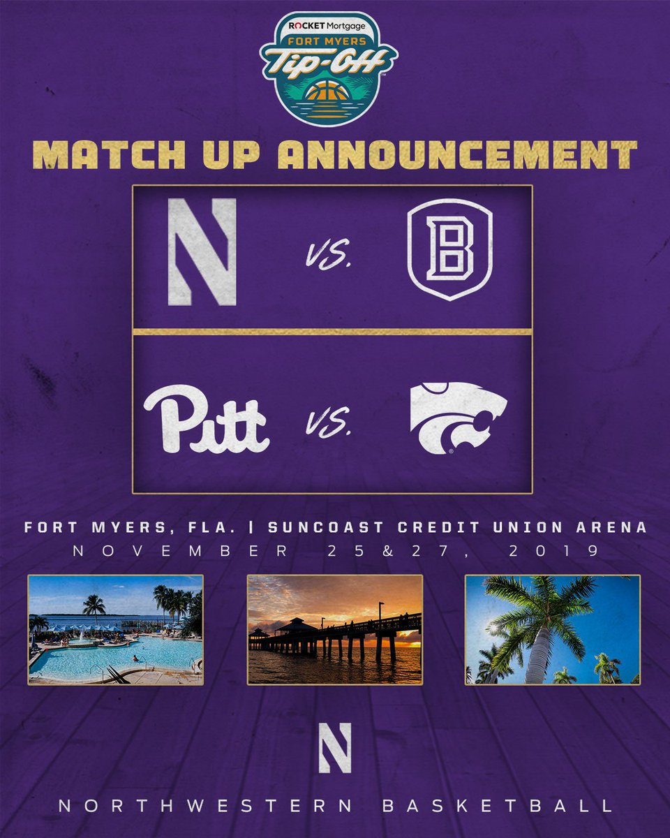 The @FTMyersTipOff field is set. Looking forward to seeing you in paradise. 🏀🌴: bit.ly/2NLiI0k #GoCats | #PoundTheRock