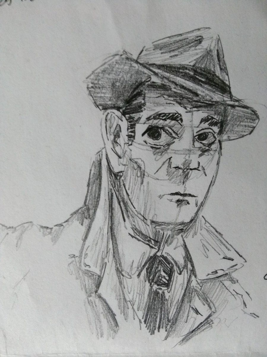 Here is a sketch I did about a month ago of Eddie Constantine as Lemmy Caution in French Sci-Fi Noir film 'Alphaville'! The film is great and has a super unique look to it.