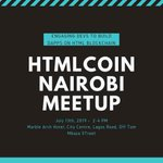 Image for the Tweet beginning: #HTMLCOIN meetup in #Nairobi Spreading the