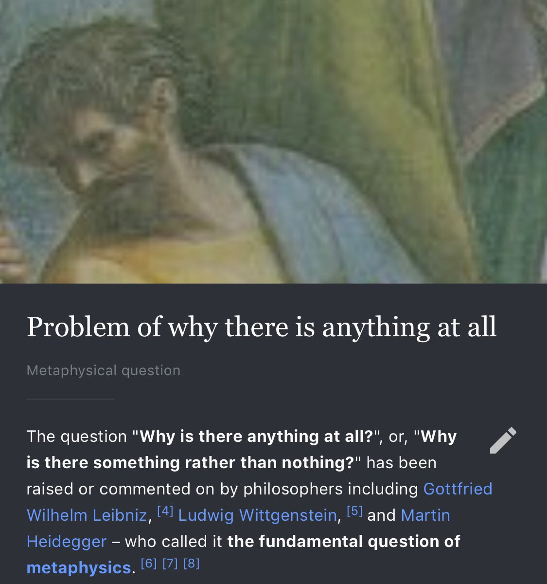 Why there is anything at all