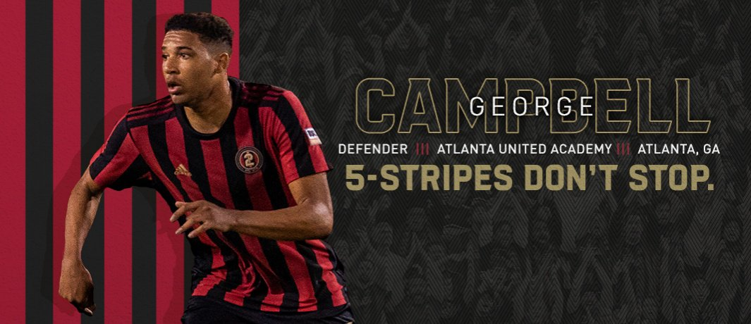 I am extremely proud of my grandson George Campbell. He just joined the ranks of the @ATLUTD soccer team.  A recent high school graduate, the 18-year-old defender becomes the sixth player to sign as an Atlanta United Homegrown Player in club history.