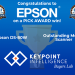 Image for the Tweet beginning: Congratulations, @EpsonAmerica, you've won a