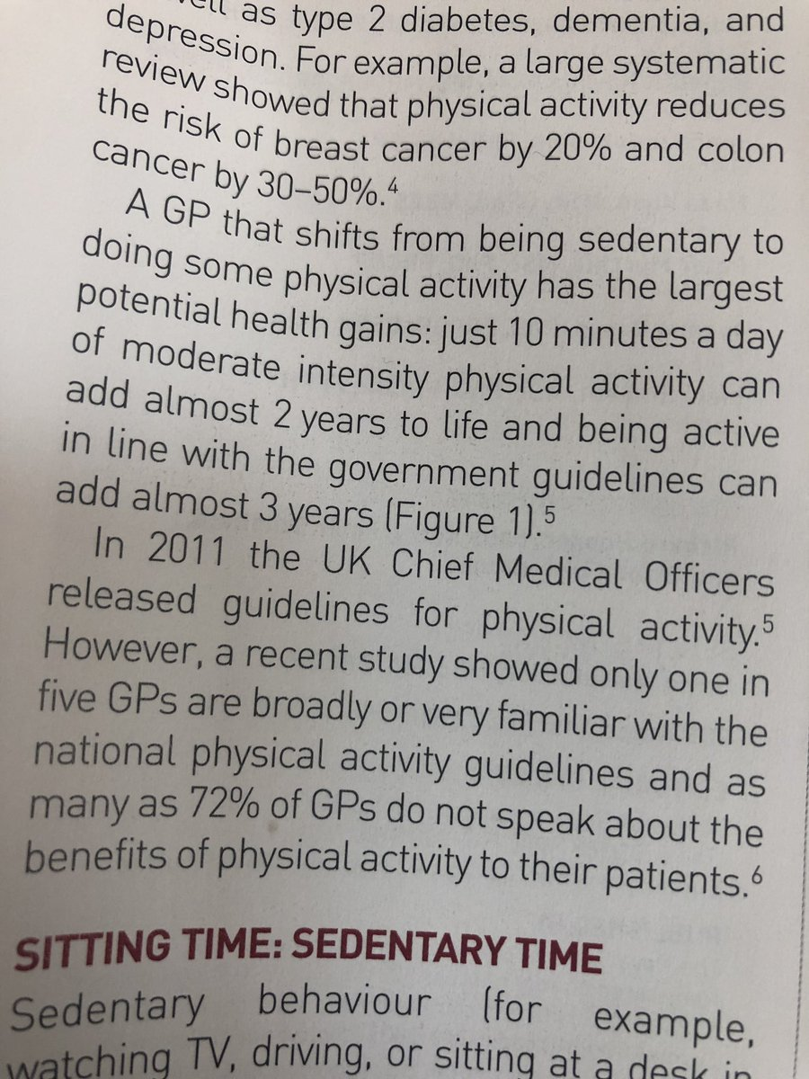 It's v poor that only 1/5 GPs are aware of the CMOs guidance for physical activity! Especially when the evidence points to this being the biggest treatment plan in our armoury against almost every condition  we are trying to prevent! @BJGPjournal @rcgp @PHE_uk @healthierwigan