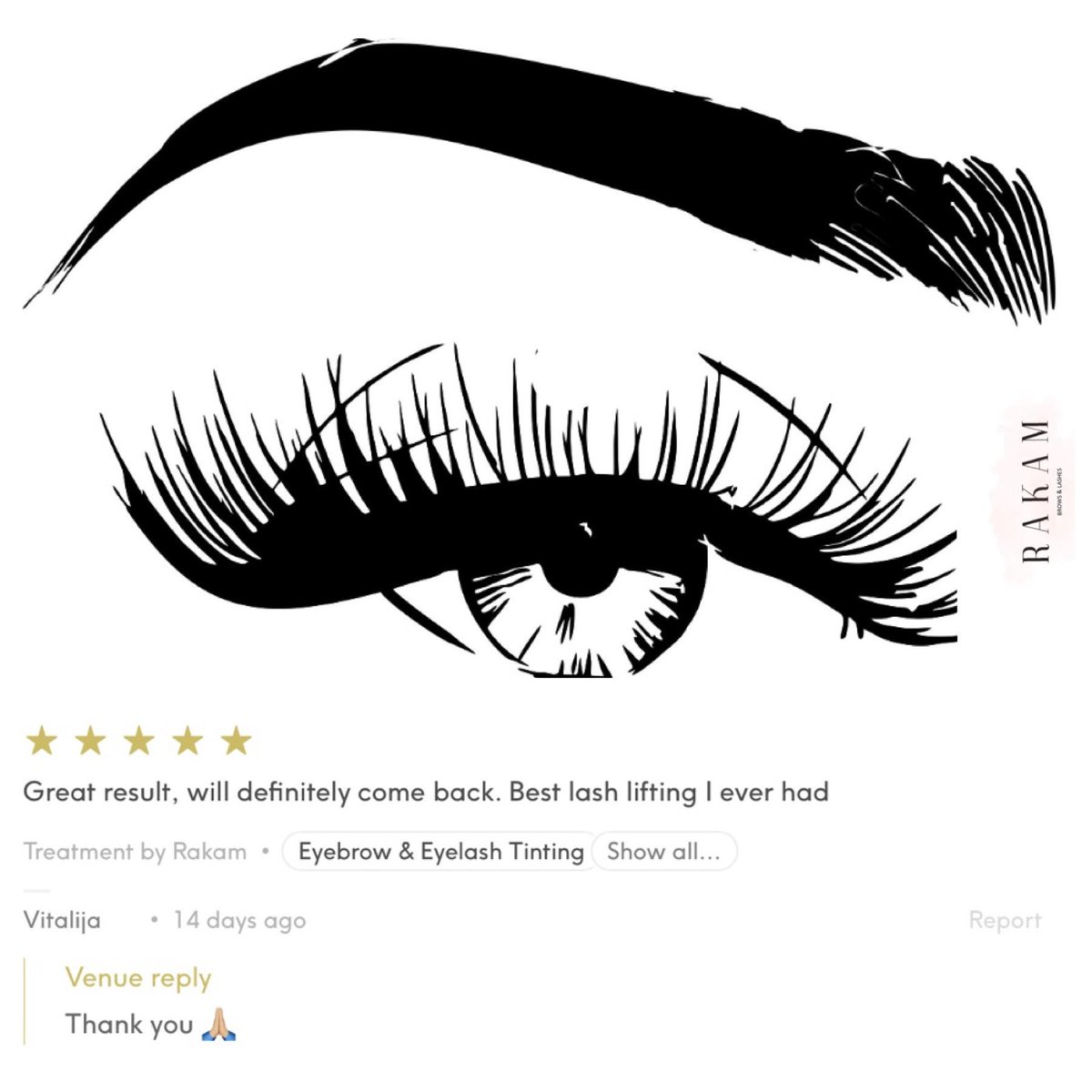 267da3fb464 R A K A M Brows & Lashes - London, Gielly Green and Treatwell
